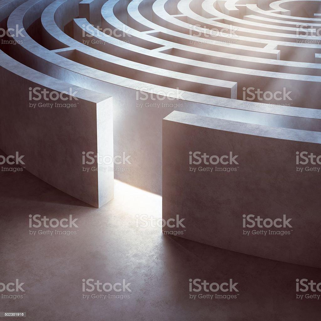 Entrance of a maze stock photo
