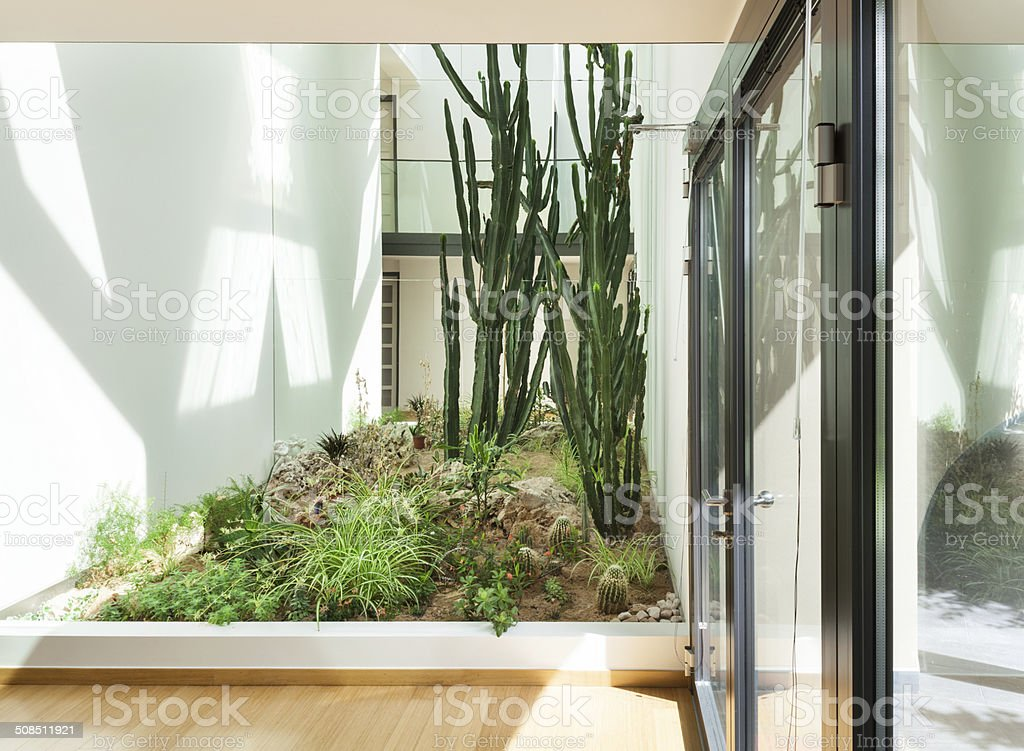 entrance of a modern building stock photo