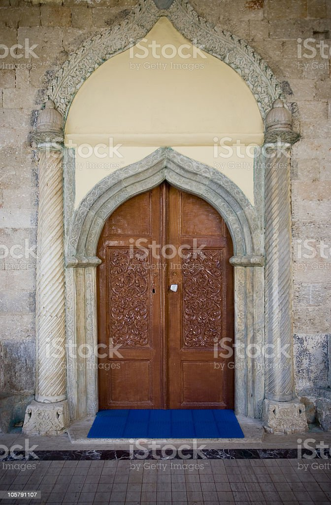 Entrance of a mosque royalty-free stock photo