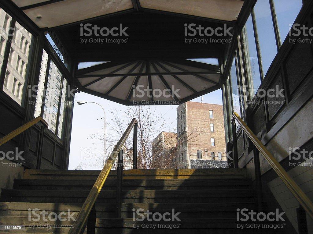 Entrance of a subway royalty-free stock photo