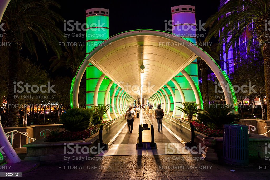entrance of Ballys Hotel and Casino on the Vegas Strip stock photo