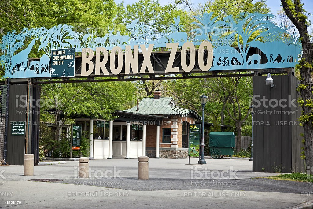 Entrance of Bronx Zoo stock photo