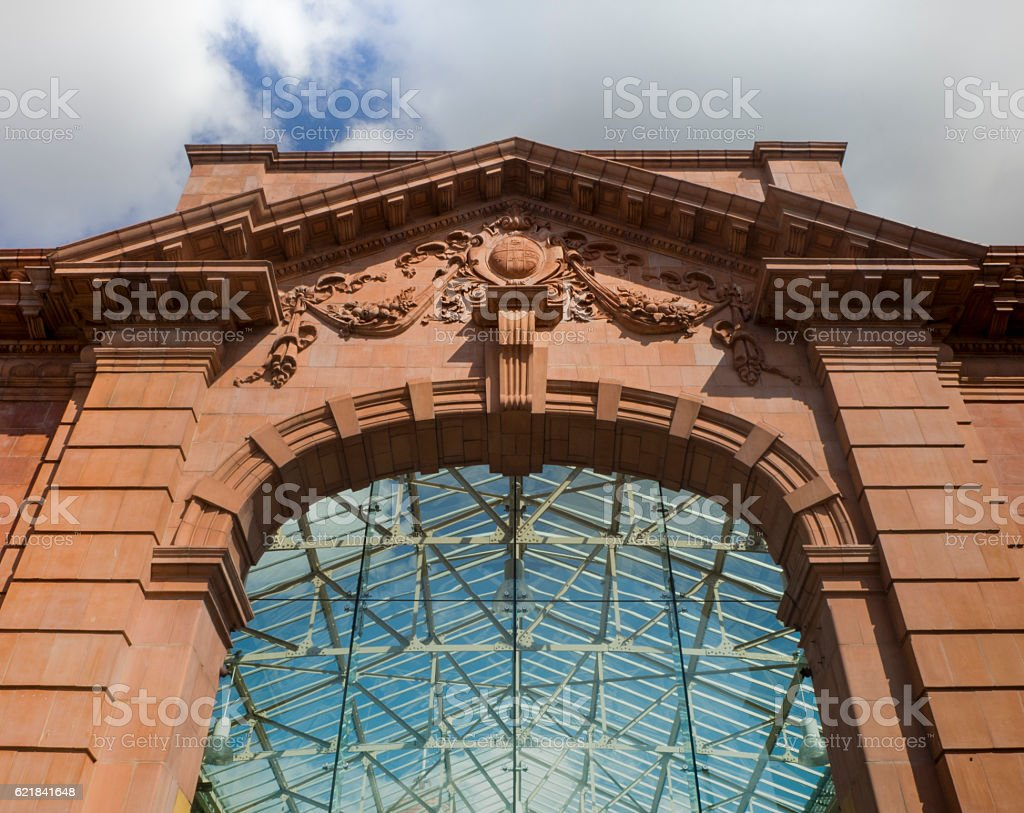 Entrance of Central Train Station in Nottingham,UK stock photo