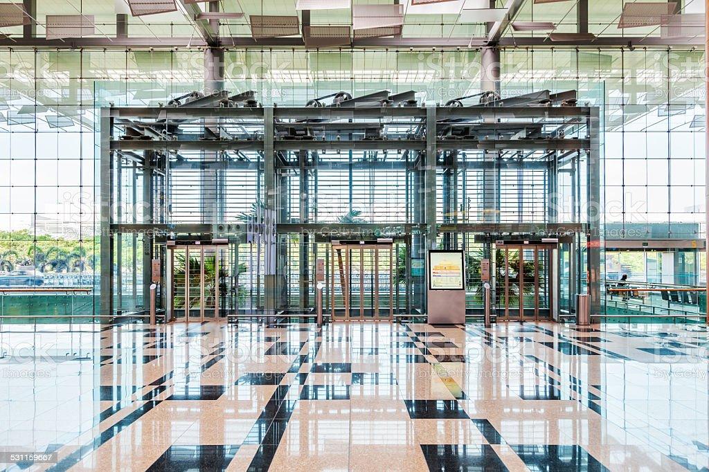Entrance Of Changi Airport, Terminal 3, Singapore stock photo