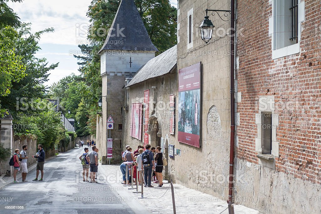 Entrance of Chateau du Clos Luce -  Amboise stock photo