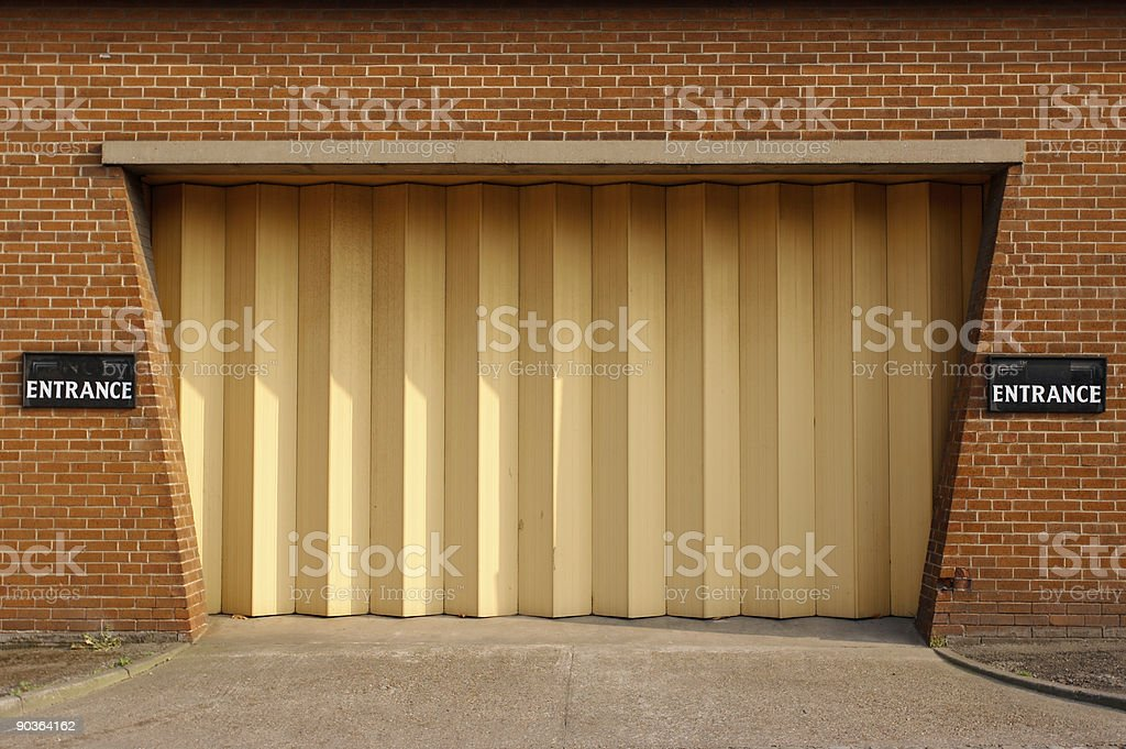Entrance of Funeral Directors Building stock photo