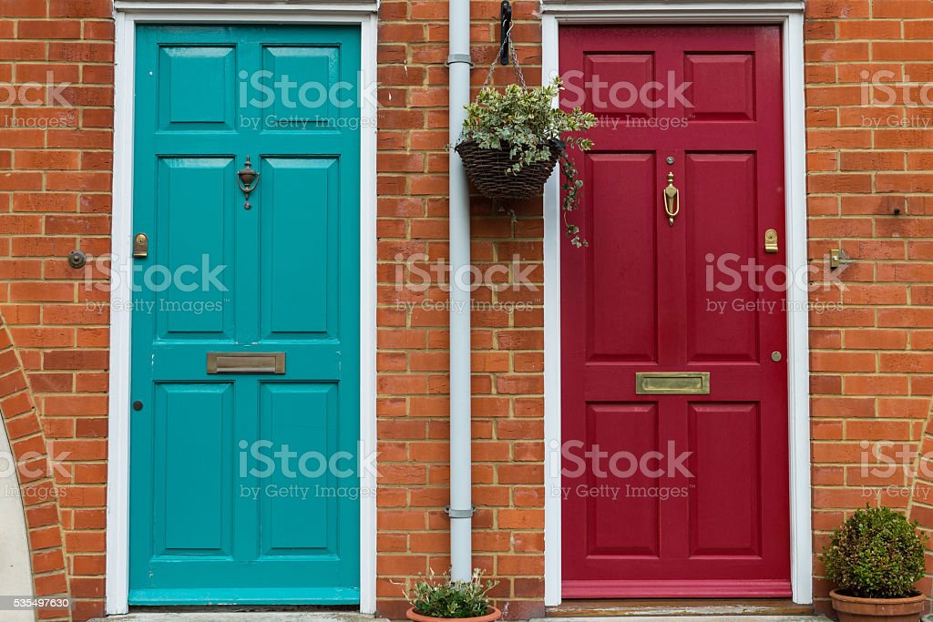 Entrance of house stock photo