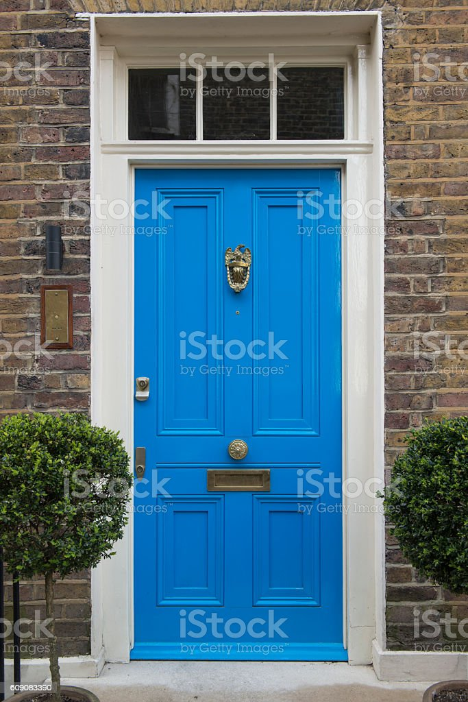 Entrance of house stock photo