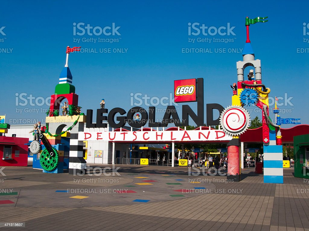 Entrance of Legoland stock photo