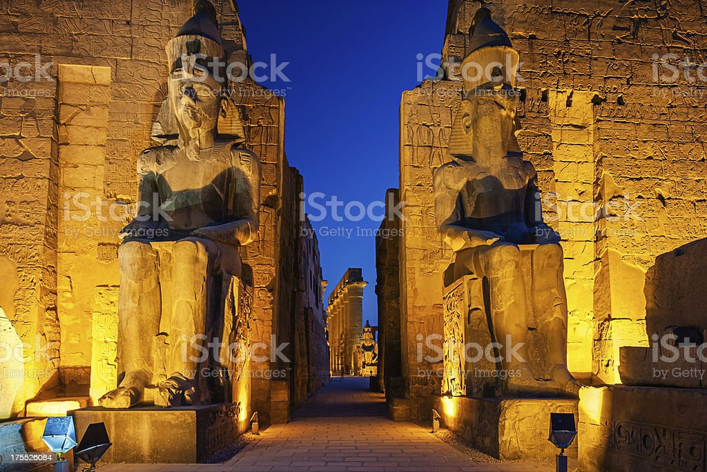 Entrance of Luxor Temple, Egypt stock photo