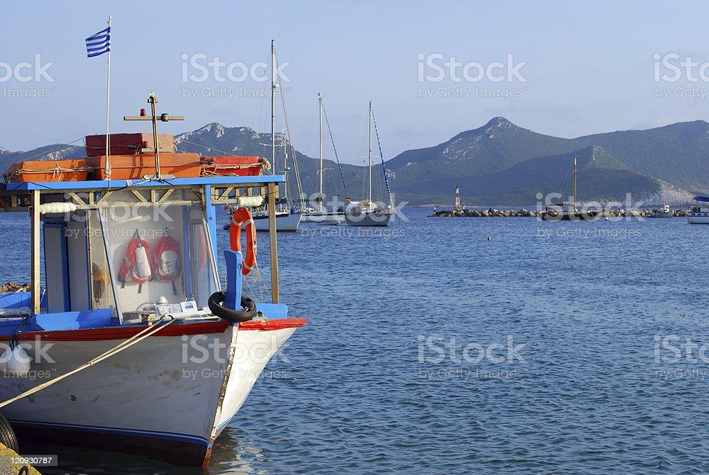 Entrance of Methoni Port royalty-free stock photo