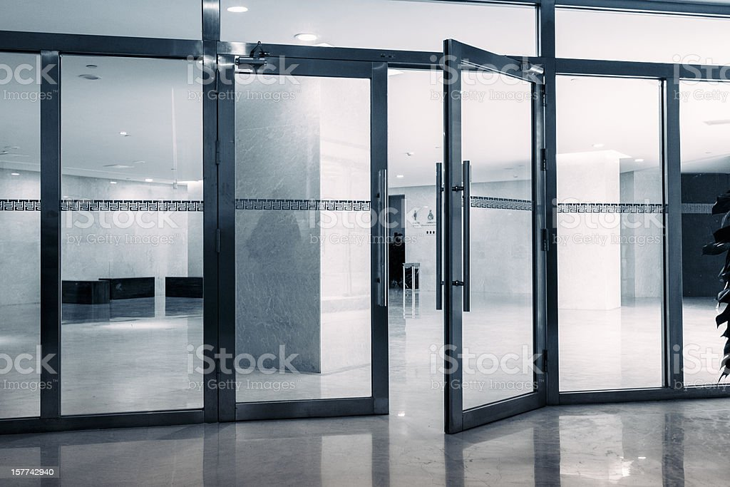 entrance of Modern Architecture stock photo