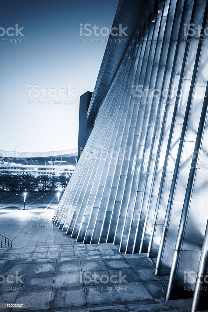 entrance of modern office building royalty-free stock photo