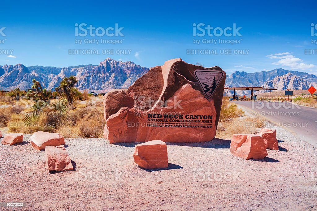 Entrance of Red Rock Canyon stock photo