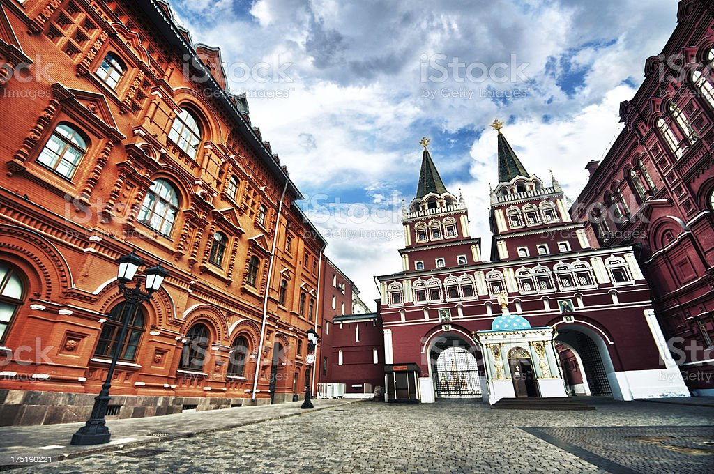 Entrance of Red Square in Moscow, Russia stock photo