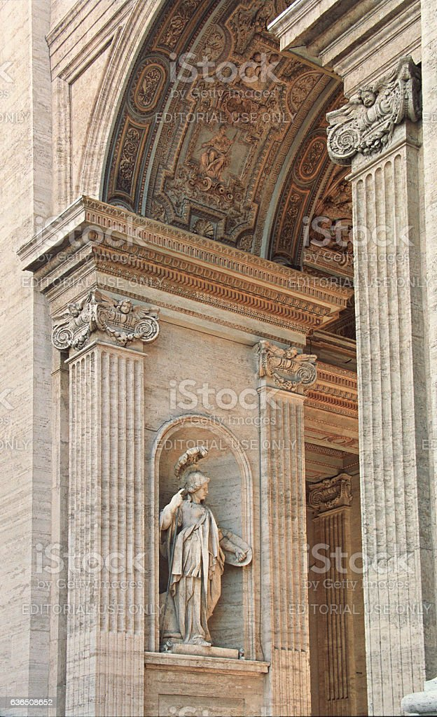 Entrance of St Peter's Basilica in Vatican city, Italy stock photo
