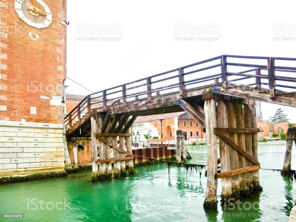 Entrance of the Arsenale. Venice, Italy stock photo