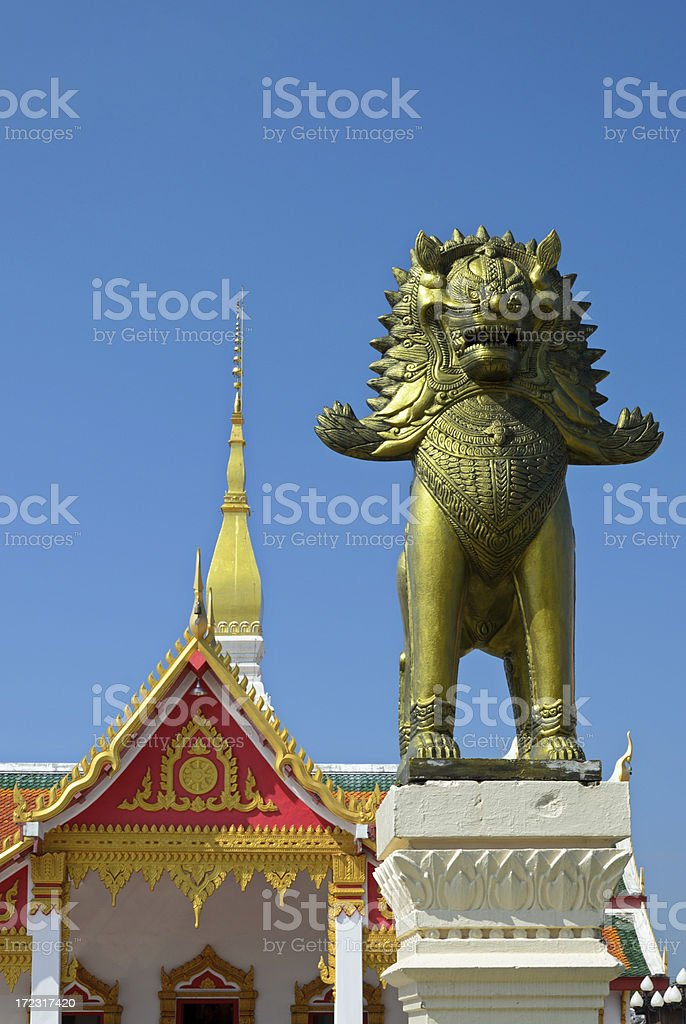 Entrance of the Buddhist temple in Thailand royalty-free stock photo