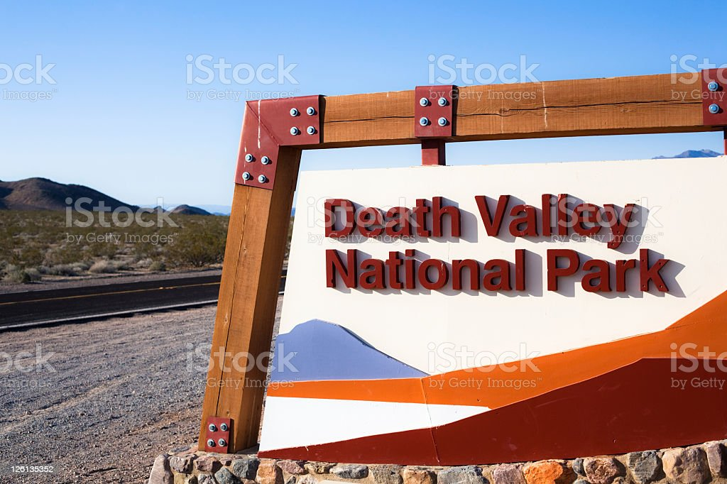 Entrance of the Death Valley National Park royalty-free stock photo