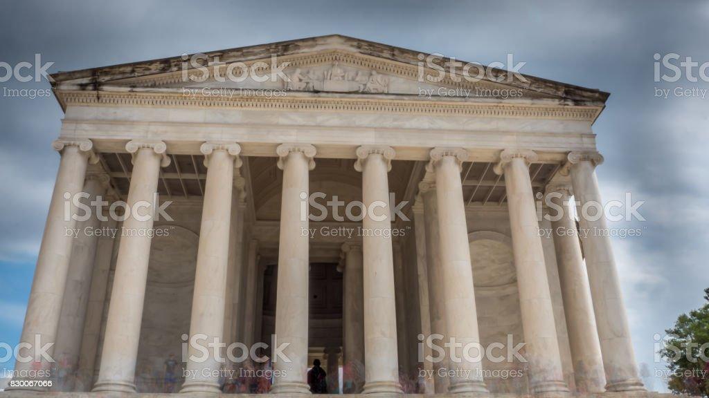 Entrance of the George Washingtons Monument stock photo
