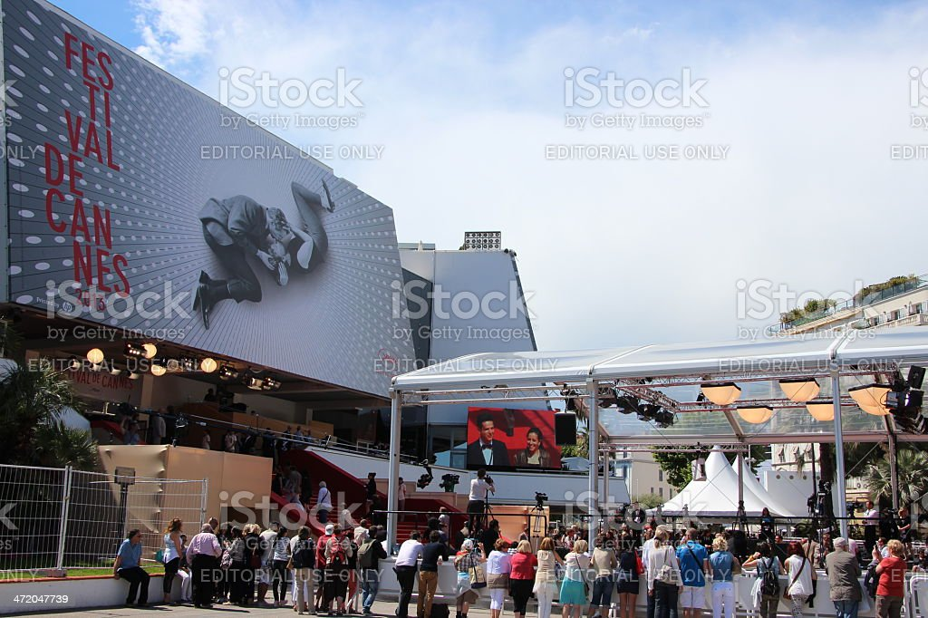 Entrance of the International Cannes Film Festival 2013 stock photo