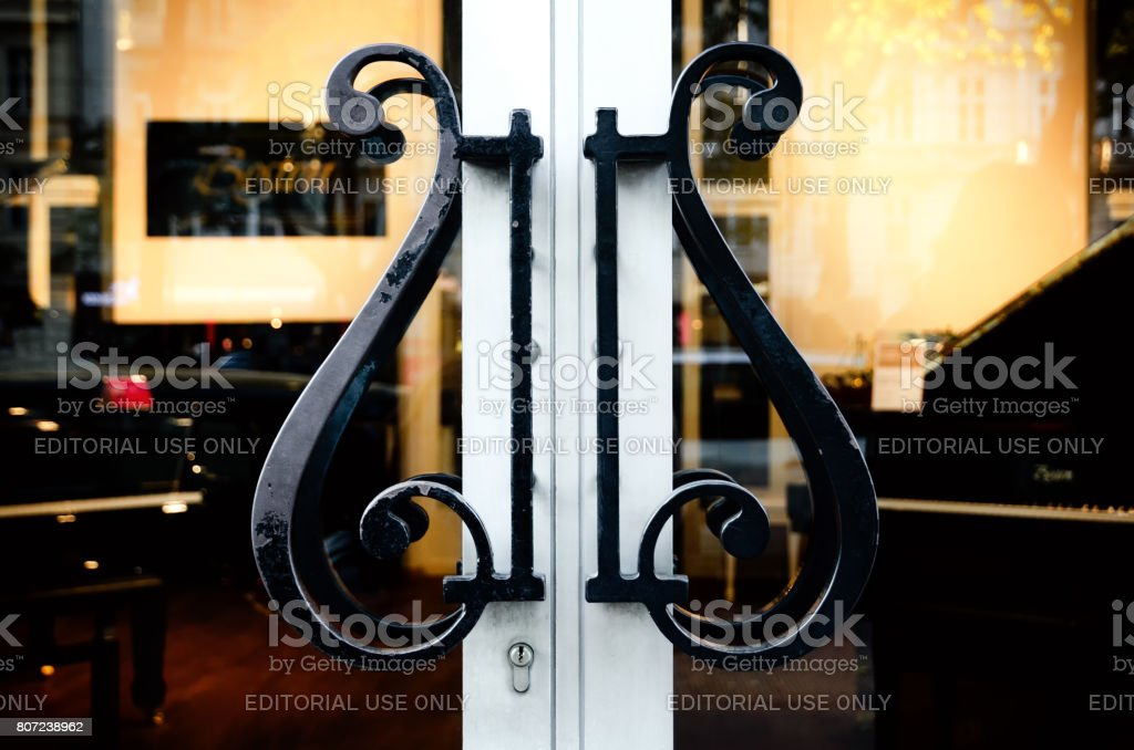 Entrance of the Steinway Haus, official showroom of handcrafted Steinway & Sons pianos in Vienna stock photo