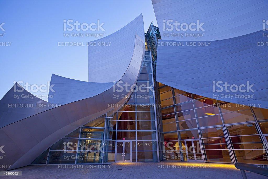 Entrance of the Walt Disney Concert Hall royalty-free stock photo