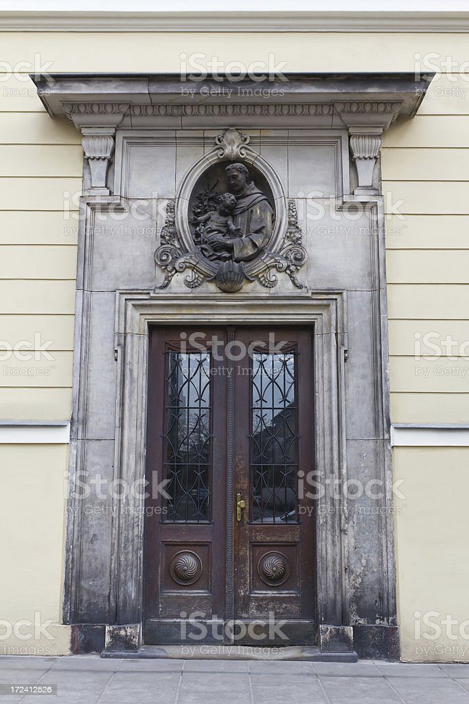 Entrance of townhouse royalty-free stock photo