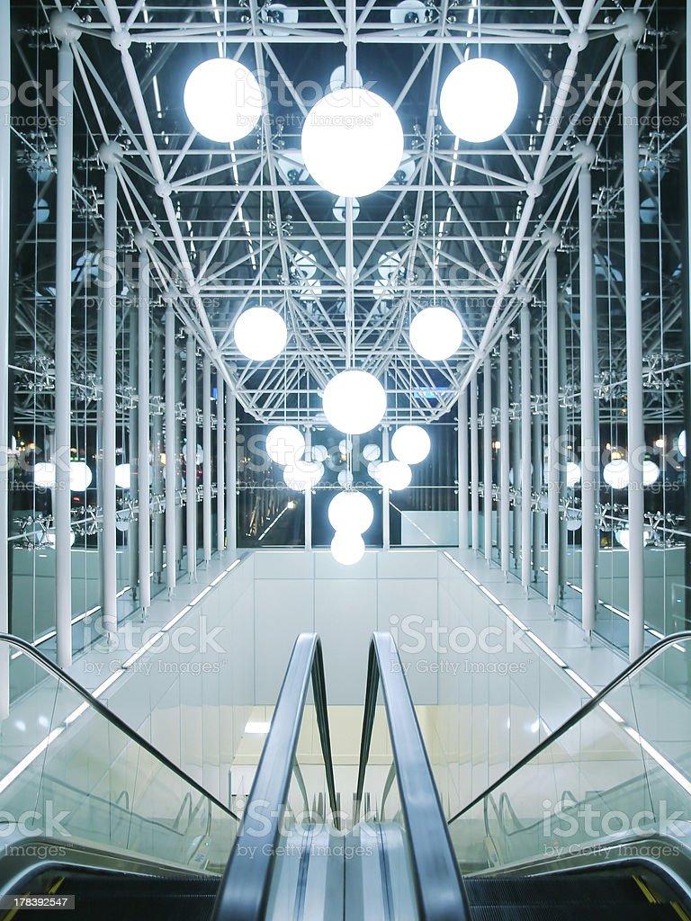 Entrance of underground royalty-free stock photo