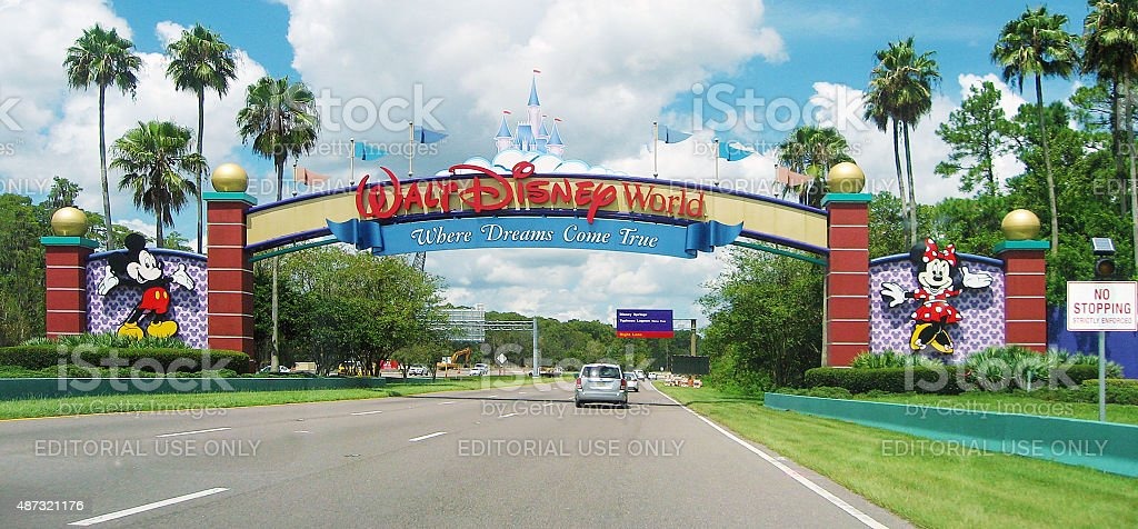 Entrance of Walt Disney World in Orlando, Florida stock photo