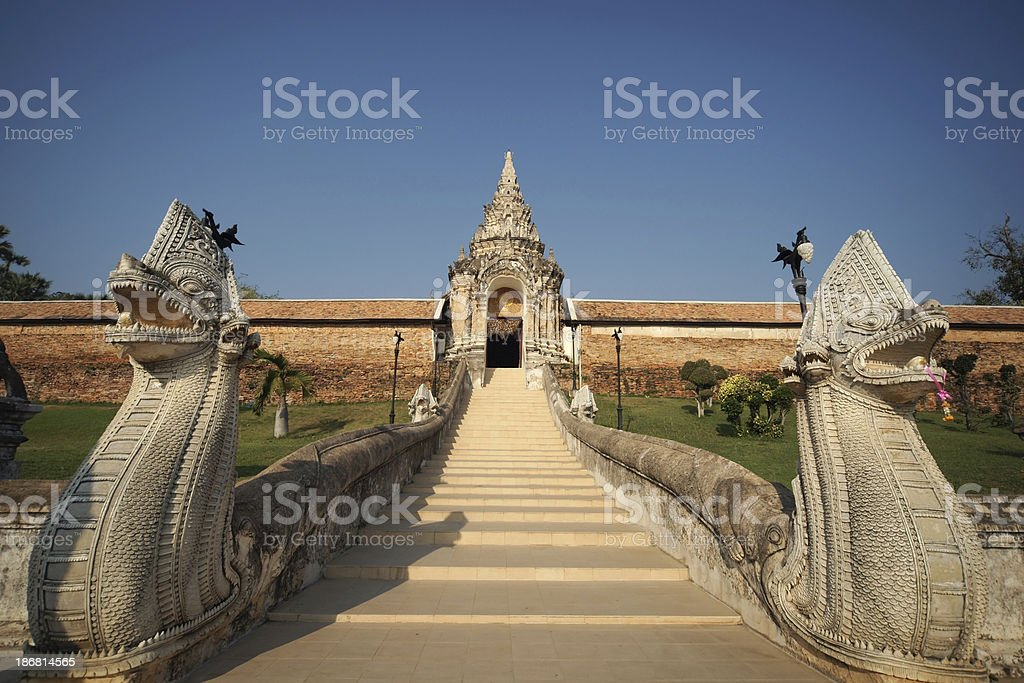 'Entrance of Wat Phra That Lampang Luang, Thailand' stock photo