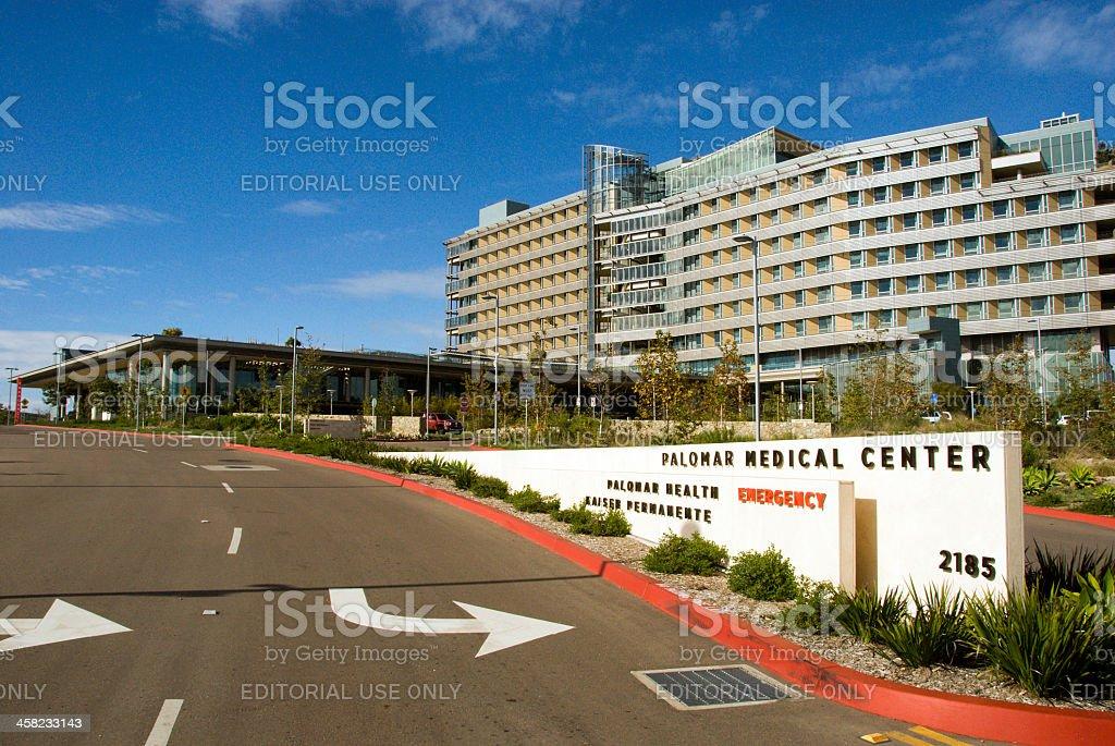 Entrance, Palomar Medical Center stock photo