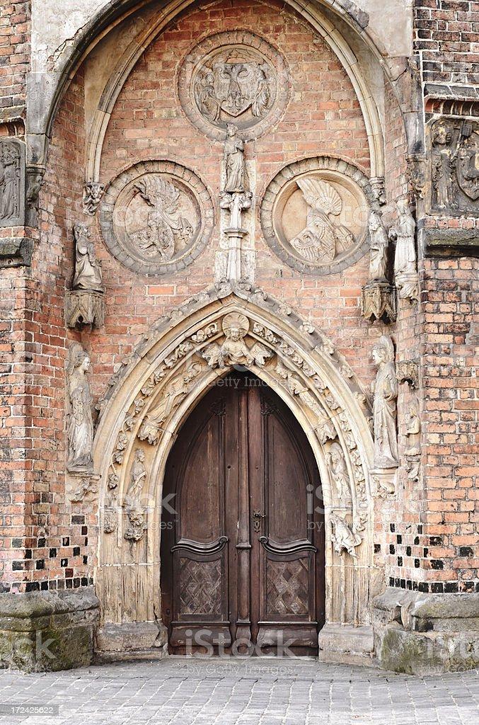 Entrance portal Marienkirche Frankfurt Oder royalty-free stock photo