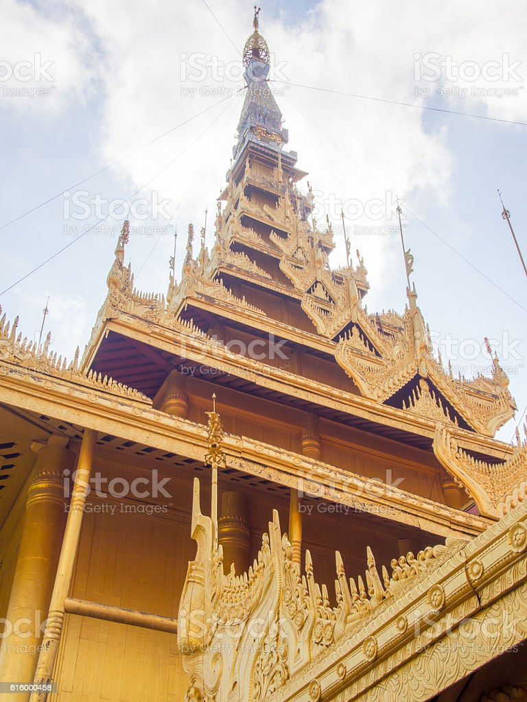 Entrance, Royal Palace, Mandalay, Myanmar stock photo
