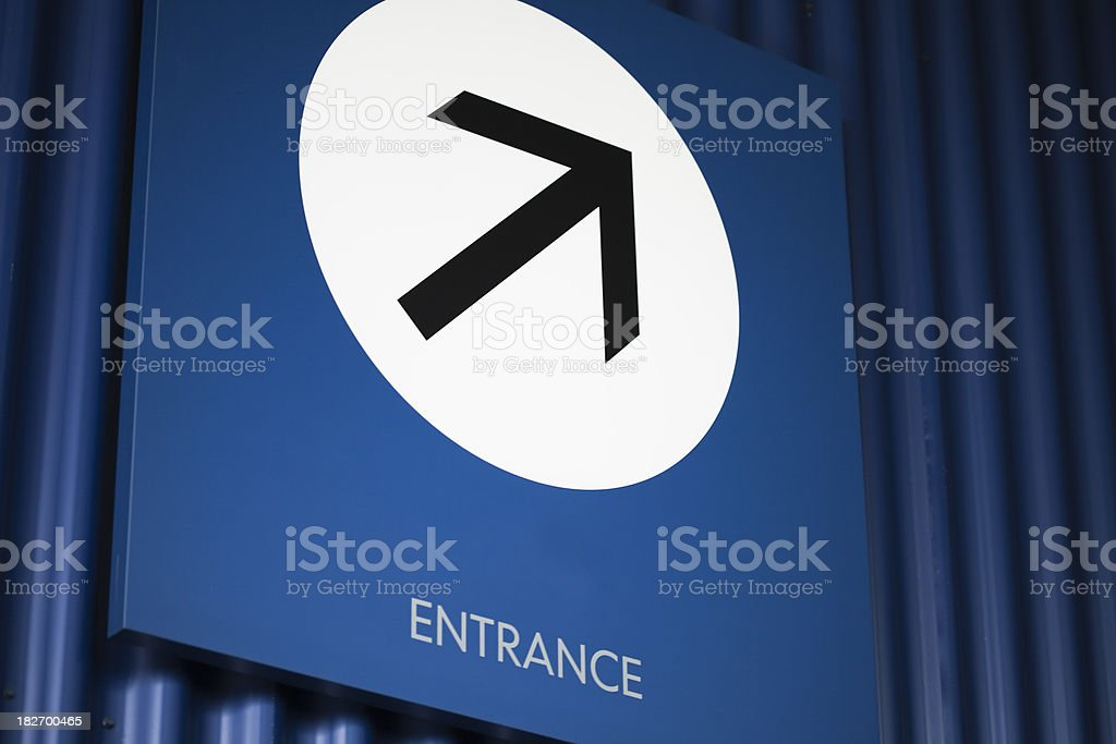 Entrance sign royalty-free stock photo