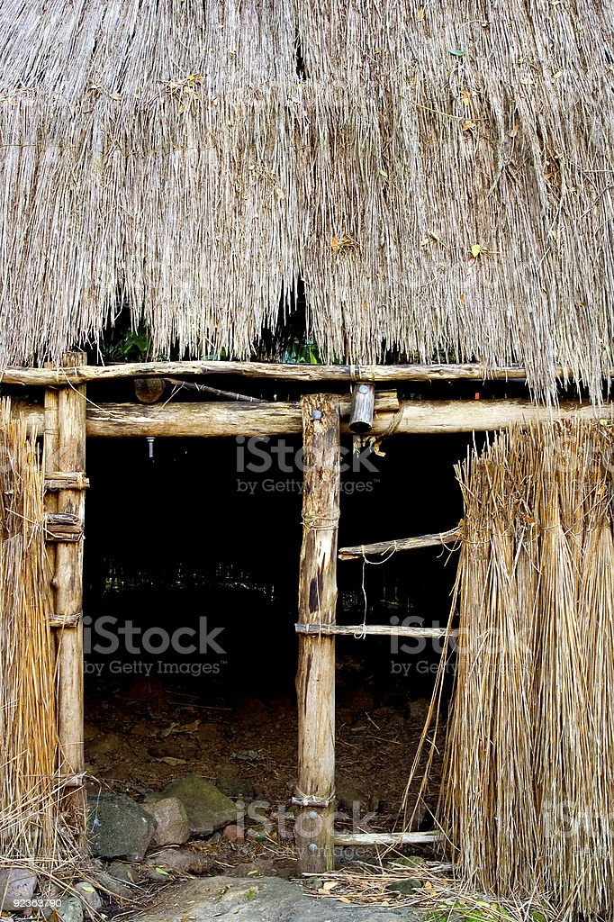 Entrance to a Kauhale--traditional Hawaiian living site royalty-free stock photo