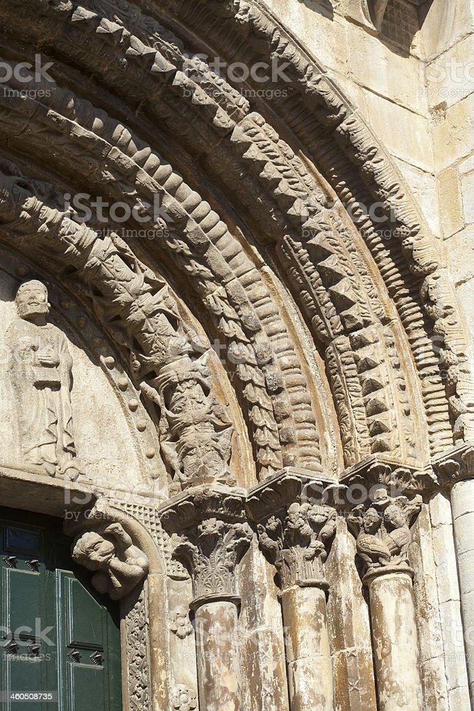 Entrance to a romanesque church royalty-free stock photo