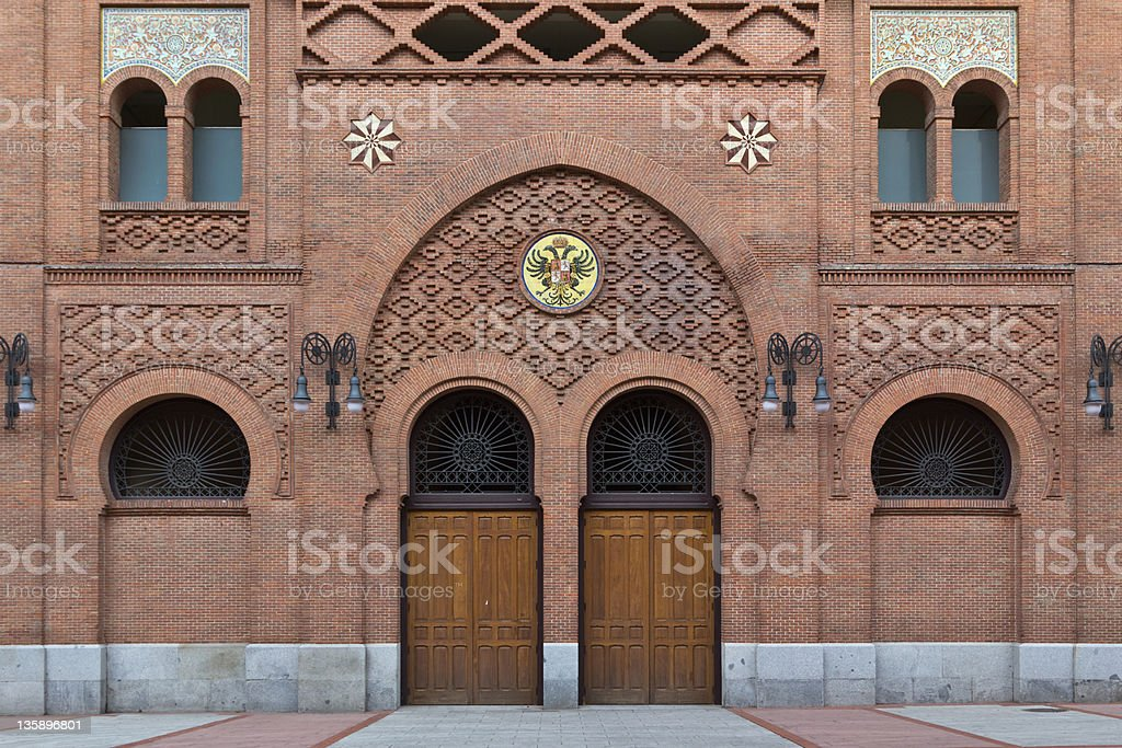 Entrance to a spanish bullfight arena stock photo
