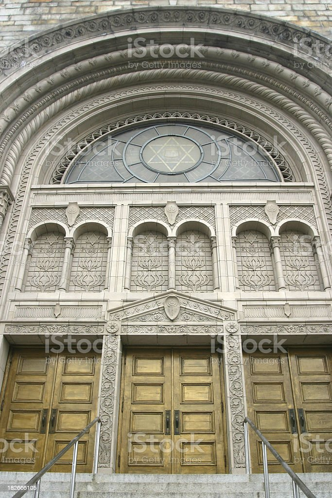 Entrance to a synagogue royalty-free stock photo