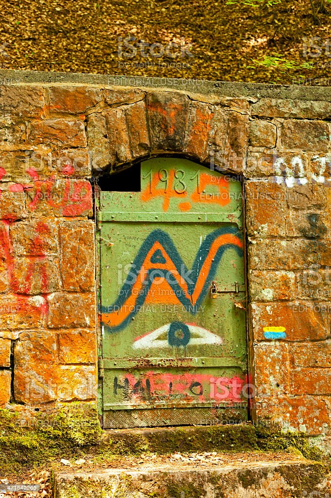 Entrance to an old mine royalty-free stock photo