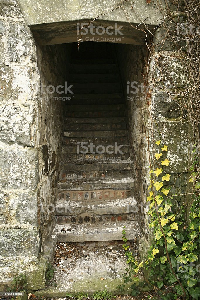 Entrance to an old Welsh workhouse stock photo