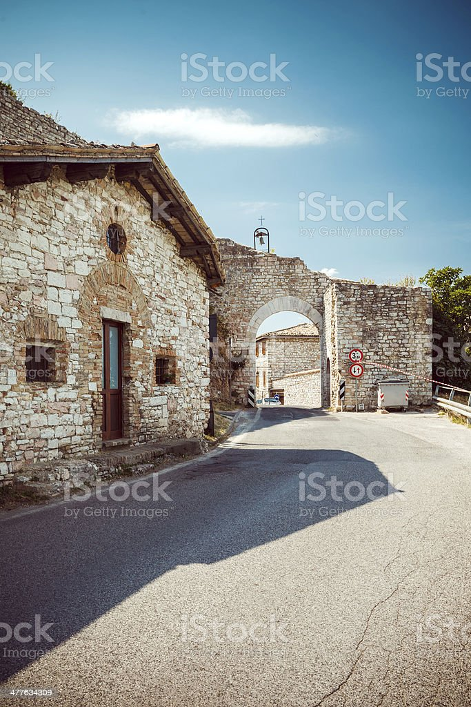 Entrance to Assisi, Italy royalty-free stock photo