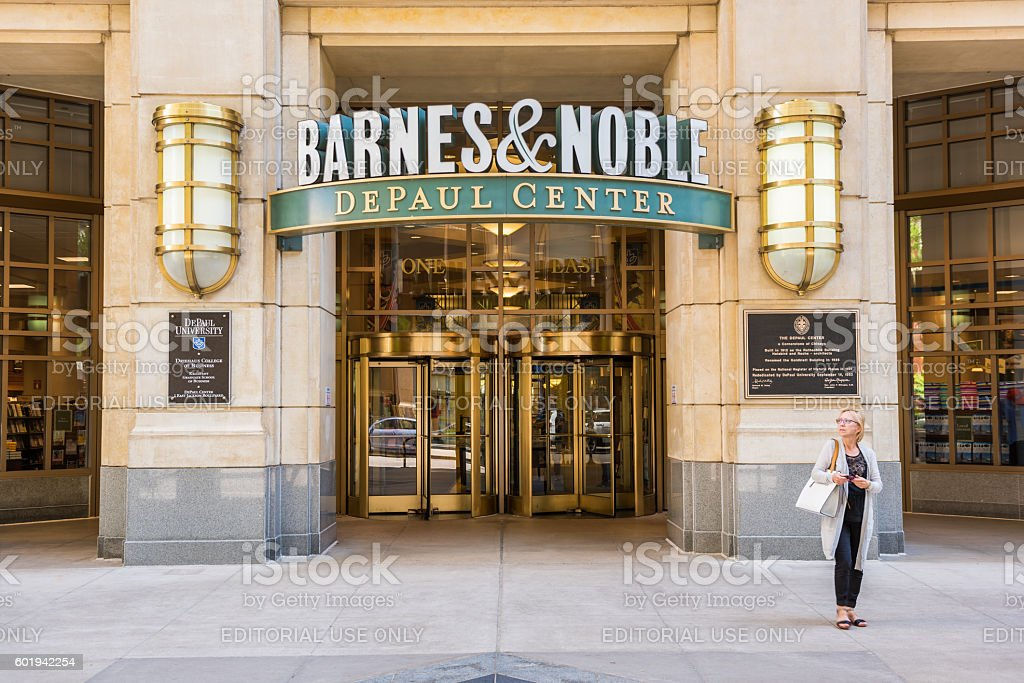Entrance to Barnes and Noble bookstore stock photo