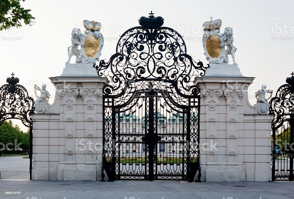Entrance to belvedere Palace royalty-free stock photo