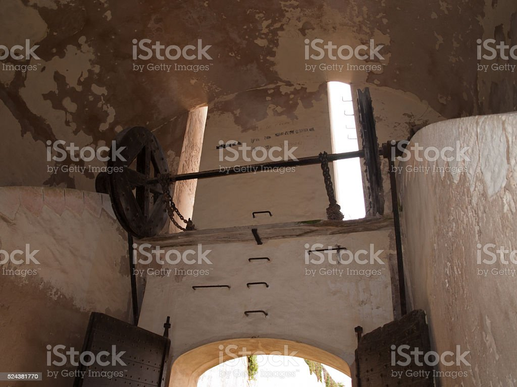 Entrance to Bonifacio in Corsica, France stock photo