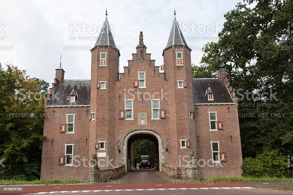 entrance to business university nyebrode in the dutch village of stock photo