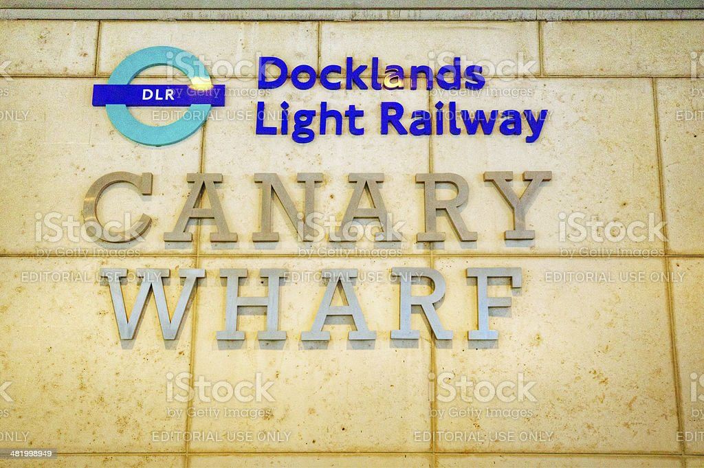 Entrance to Canary Wharf station royalty-free stock photo
