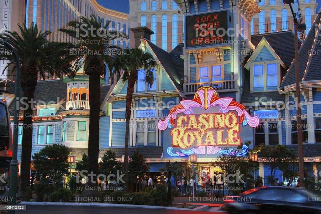 Entrance to Casino Royale  hotel royalty-free stock photo