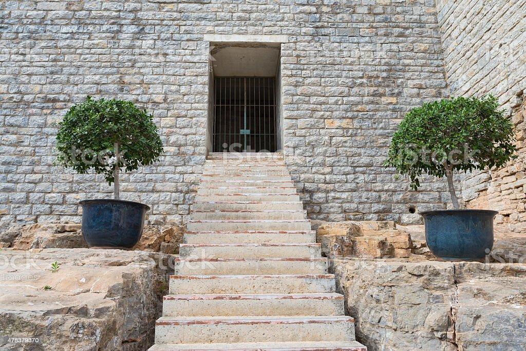 Entrance to castle. stock photo
