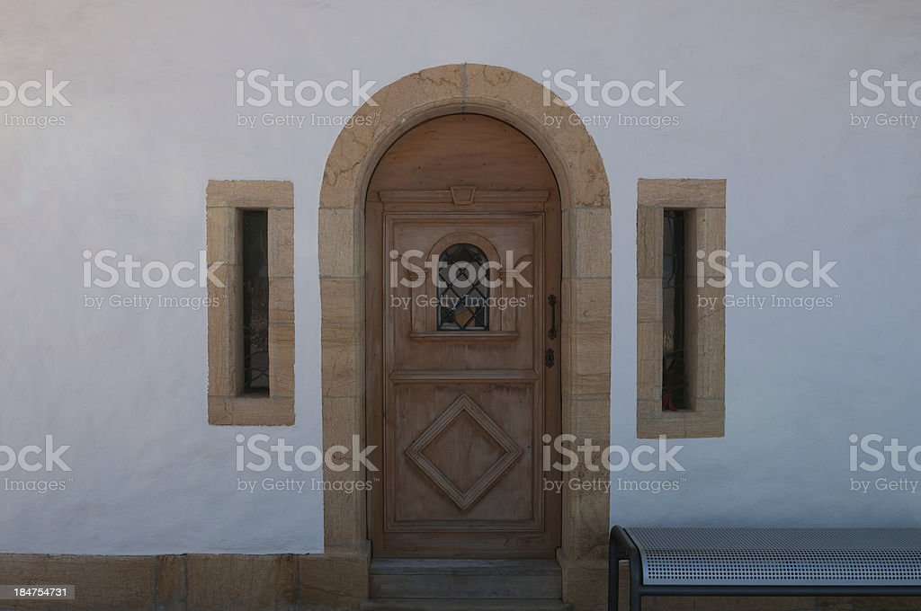 Entrance to chapel royalty-free stock photo